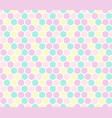 hexagon seamless pattern in pastel colors vector image vector image