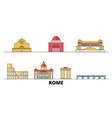 italy rome city flat landmarks vector image