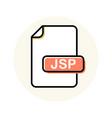 jsp file format extension color line icon vector image vector image