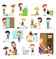 Kid Cleaning Set vector image vector image