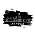 las vegas nevada city skyline silhouette hand vector image vector image