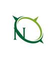 letter n compass emblem vector image