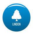 linden tree icon blue vector image vector image