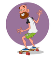 man on the long board vector image