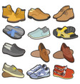 men shoes and boots footwear collection vector image vector image