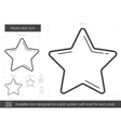 Music star line icon vector image