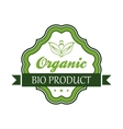 Organic bio product emblem or label vector image