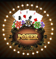poker cards and chips vector image vector image