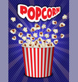 popcorn explosion concept background realistic vector image