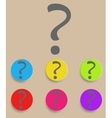 Question mark sign icon Help symbol FAQ sign vector image vector image