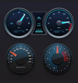 realistic car dashboard speedometers with dial vector image vector image