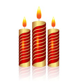 Realistic Christmas candle vector image
