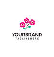 rose flower logo design concept template vector image vector image
