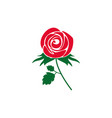 rose icon design template isolated vector image vector image