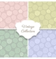 Roses vintage seamless pattern collection vector image vector image