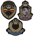 royal badge vector image vector image