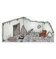 ruins house vector image