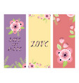 save date love flower valentine day vector image vector image