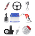set icons of car parts vector image vector image
