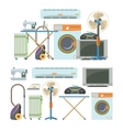 set of home electronics objects isolated on vector image vector image