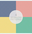 set of polka dot seamless pattern vector image vector image
