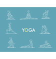set polygonal of yoga poses Women doing yoga vector image