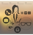 shopping infographic with unfocused background vector image vector image