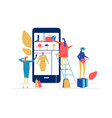 Shopping online - flat design style colorful