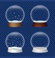 snowglobe icon set realistic style vector image vector image