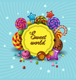 sweet world cartoon logo children vector image