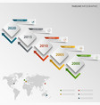 time line info graphic with abstract design cubes vector image vector image