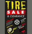 tire sale out banner template vector image