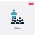 two color seminar icon from social media vector image vector image
