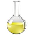 Yellow liquid in test tube vector image vector image
