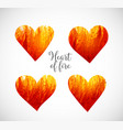hearts made of fire vector image