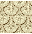 Seamless geometric pattern in fish scale design vector image