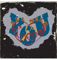 Grunge vintage Tee shirt vector image