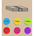 Set of flat colored simple web icons bundle of vector image