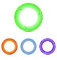 set of round arrows vector image
