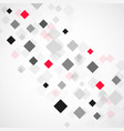 abstract background with black and red squares vector image vector image