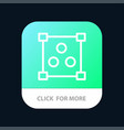 abstract design online mobile app button android vector image vector image