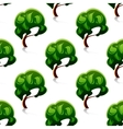 Abstract green trees seamless pattern vector image vector image