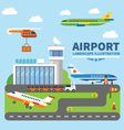 Airport landscape vector image vector image