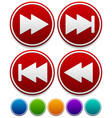 arrow buttons - fastforward rewind buttons vector image