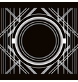 Art Deco style abstract geometric frame vector image