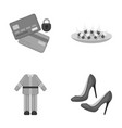 bank trade business and other monochrome icon in vector image vector image