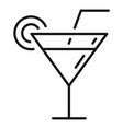 beach ice cocktail icon outline style vector image vector image