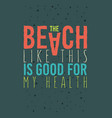 beach summer typographic poster design with fresh vector image