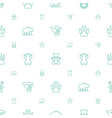 bear icons pattern seamless white background vector image vector image