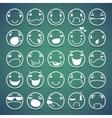 Cartoon Facial Espressions Icons Set vector image